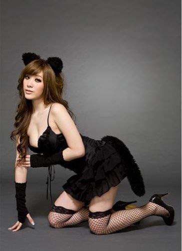 大人の人間の女性限定!セクシー猫コスプレ
