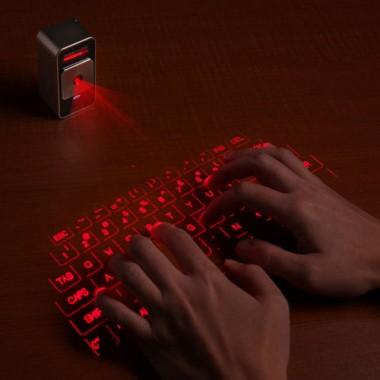 映画みたいだ!近未来感満載の投影型キーボード