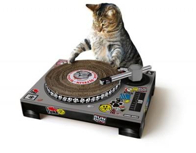 世界初のDJ猫はあなたの家から現れるかも!?DJ風爪研ぎ