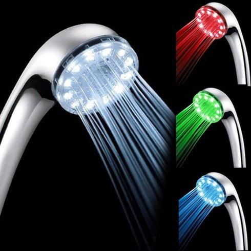 水温を可視化するシャワーヘッド