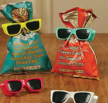 人生に彩りを、食べかけのお菓子袋にバッククリップを