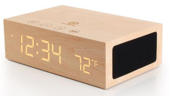 ウッド Bluetooth スピーカー・アラーム時計 LTS-100J