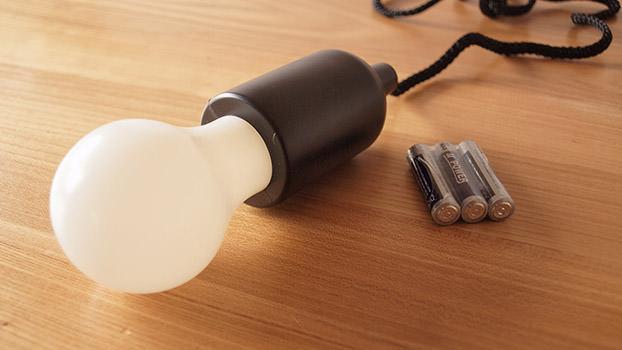 電池式LEDプルライト (Kikkerland)