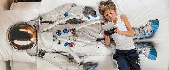 宇宙服 掛布団カバー Snurk Astronaut Duvet Cover