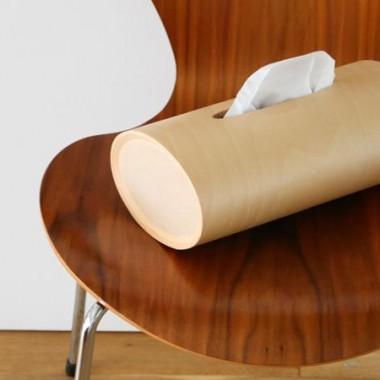 部屋の中に大自然の美しさを!ブナ木から作ったやさしいフォルムのティッシュボックス