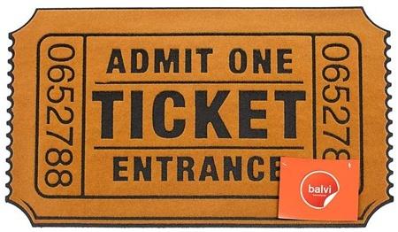 玄関マット Ticket